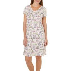 Coral Bay Womens Beach Print Nightgown