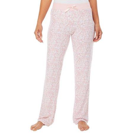 Elegant Emily Juniors Scroll Print Pajama Pants