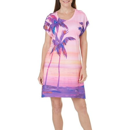 Ellen Negley Womens Shaded Sunsets Nightgown