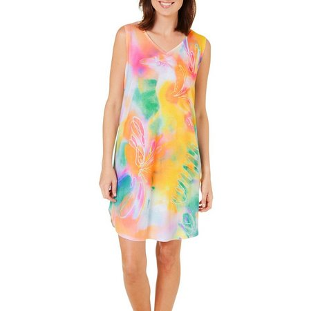 Dawn Davis Womens Flower Power Nightgown