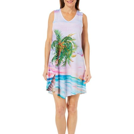 Amber Moran Womens Lone Island Strappy Nightgown