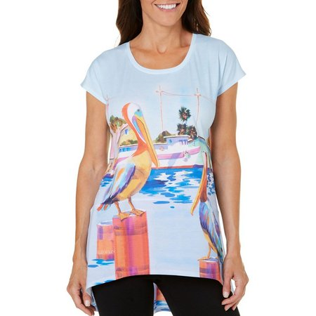 Ellen Negley Womens Pelican Party Pajama Top