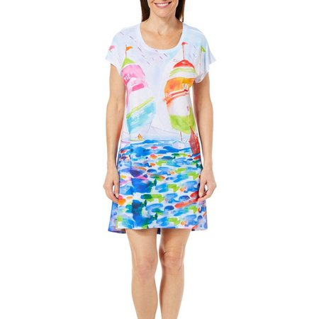 Ellen Negley Womens Breezy Boating Nightgown
