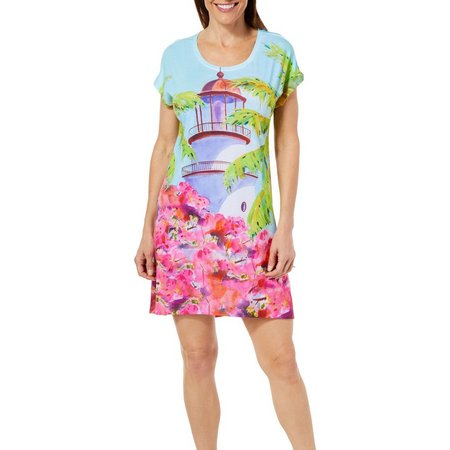 Ellen Negley Womens Lighthouse Lookout Nightgown