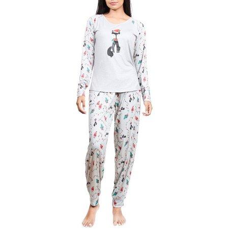 INK + IVY Womens Christmas Lights Pajama Set