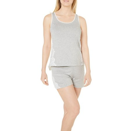 Jones New York Womens Lace Boxer Pajama Set