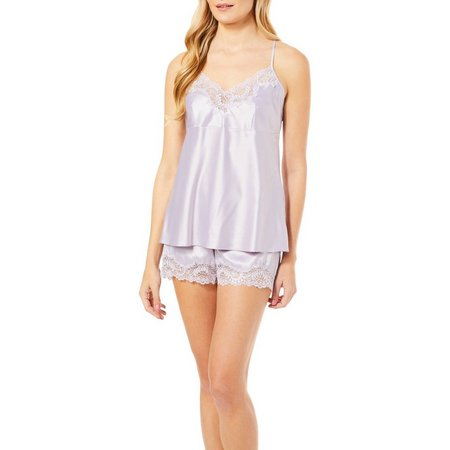 Jones New York Womens 2-pc. Satin Cami &