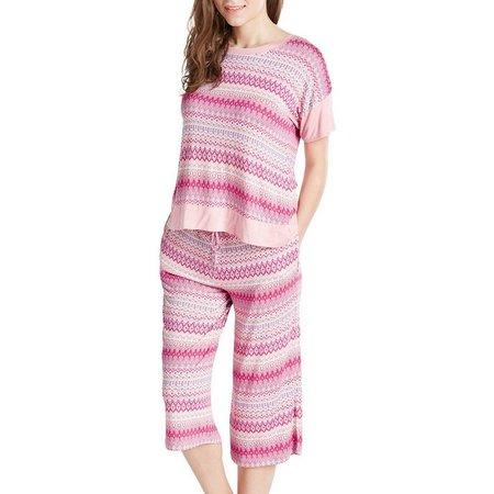 Ink & Ivy Womens Mixed Stripe Pajama Set