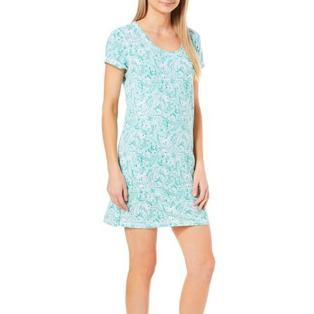 COOL GIRL Womens Paisley Print T-Shirt Nightgown