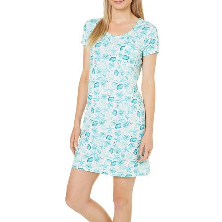 COOL GIRL Womens Shell Pocket T-Shirt Nightgown