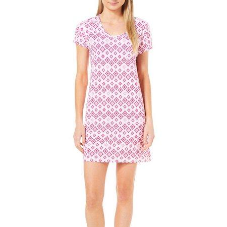 COOL GIRL Womens Aztec Diamond T-Shirt Nightgown