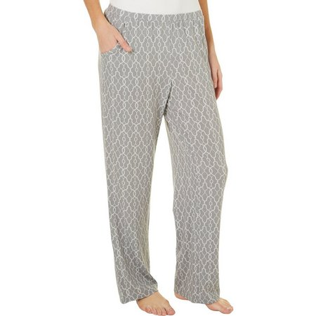 COOL GIRL Womens Grey Geo Pajama Pants