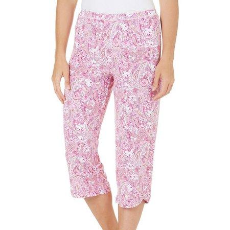 New! COOL GIRL Womens Paisley Pajama Capris