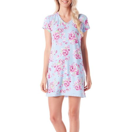 COOL GIRL Womens Pastel Floral Nightgown