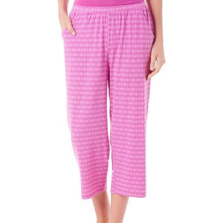 COOL GIRL Womens Tile Print Pajama Capris