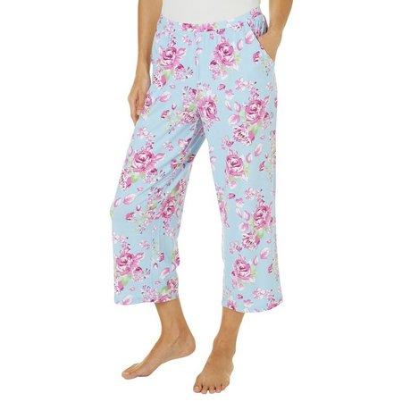 COOL GIRL Womens Floral Pocket Pajama Capris