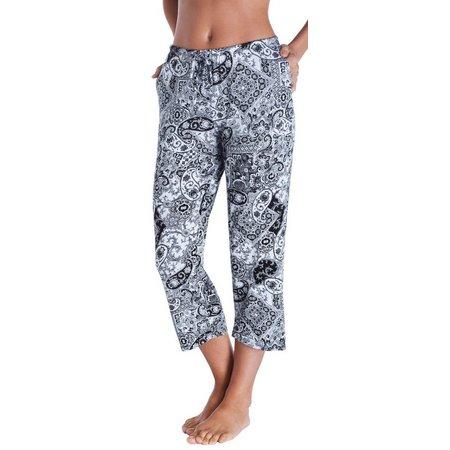 Ellen Tracy Womens Essentials Mixed Pajama Capris