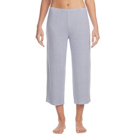 Ellen Tracy Womens Stripe Crop Pajama Pants