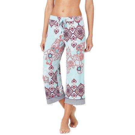Ellen Tracy Womens Floral Capri Pajama Pants