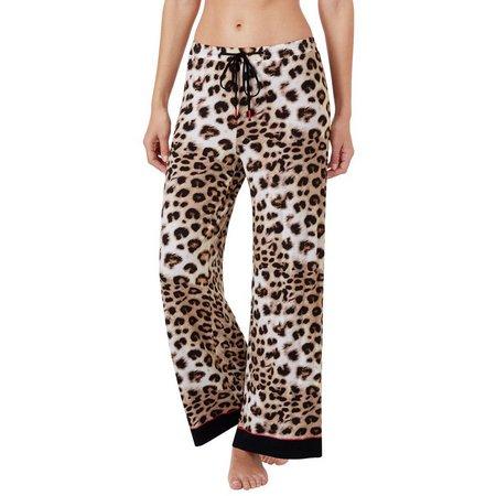 Ellen Tracy Womens Leopard Print Pajama Pants