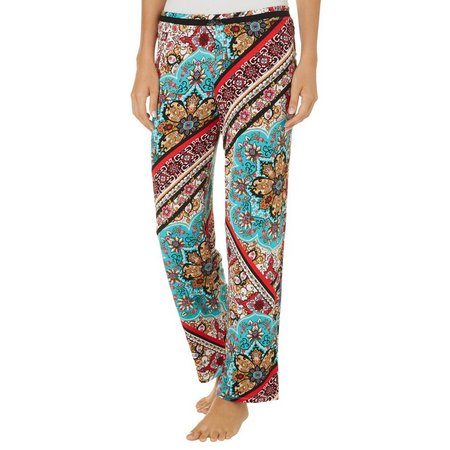 Ellen Tracy Womens Medallion Pajama Pants