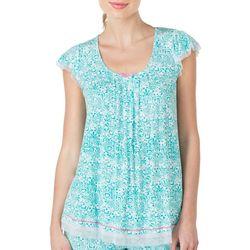 New! Ellen Tracy Womens Mesh Scroll Print Pajama