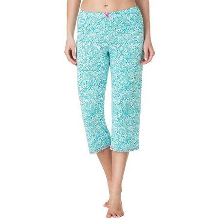 Ellen Tracy Womens Scroll Bow Pajama Capris