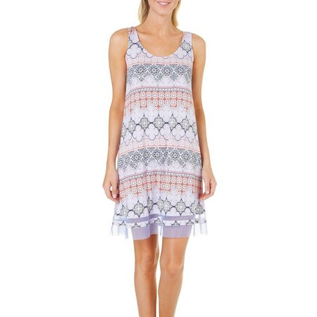 Ellen Tracy Womens Sleeveless Chemise Nightgown