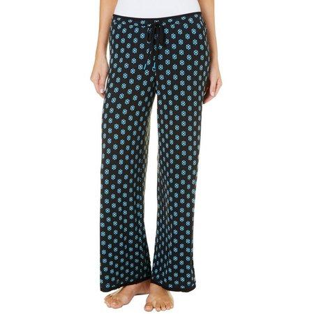 Ellen Tracy Womens Star Print Palazzo Pajama Pants