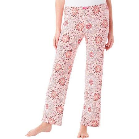 Ellen Tracy Womens Kaleidoscope Print Pajama Pants