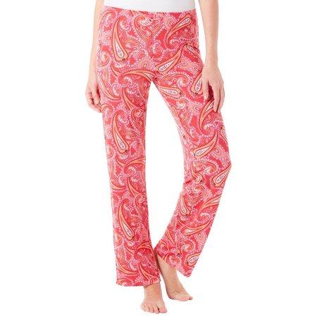 Ellen Tracy Womens Paisley Printed Pajama Pants