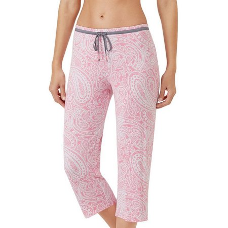 Ellen Tracy Womens Paisley Pajama Capris