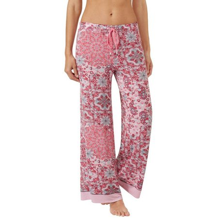 Ellen Tracy Womens Flower Patch Palazzo Pajama Pants