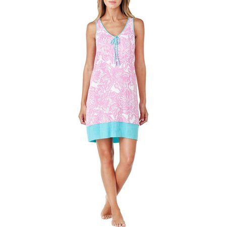 Ellen Tracy Womens Wild Flower Nightgown
