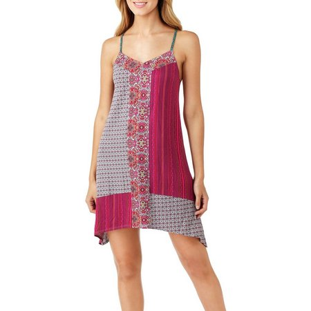 Layla Womens Mixed Print Chemise Nightgown