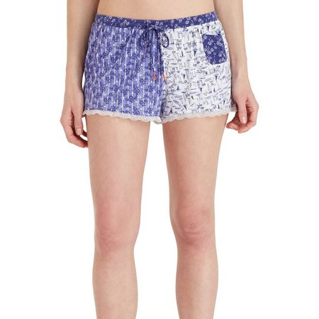 Layla Womens Sailboat Print Pajama Boxer Shorts