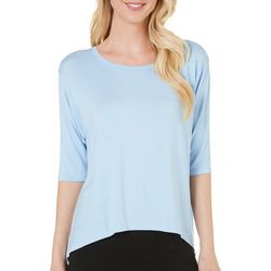 New! Lissome Womens Solid High-Low Pajama Top