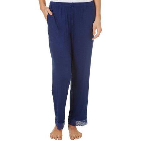 Maddie & Coco Juniors Solid Lace Trim Pajama