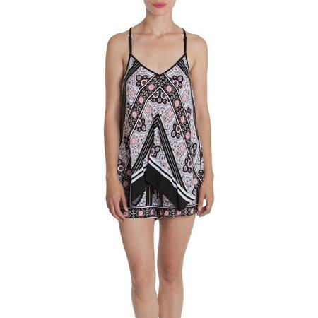 Linea Donatella Womens Floral Pajama Boxer Set
