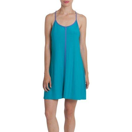 Linea Donatella Womens Lace Back Chemise Nightgown