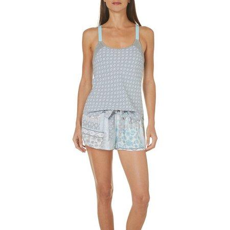 Linea Donatella Womens Floral Tank Shorts Set