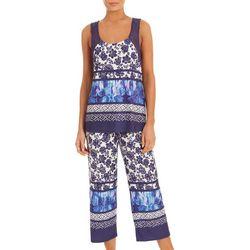 Linea Donatella Womens Lace Tank Pajama Set