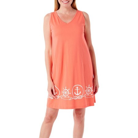 Coral Bay Womens Anchor Leisure Dress