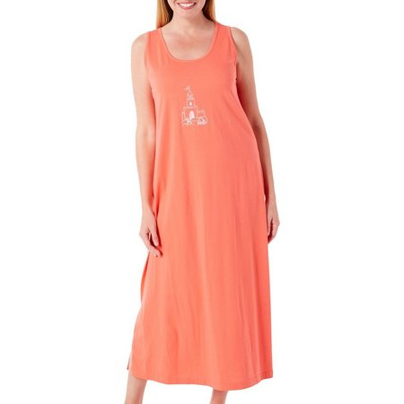 Coral Bay Womens Long Sand Castle Leisure Dress