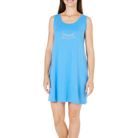 Coral Bay Womens Flip Flops Tank Leisure Dress