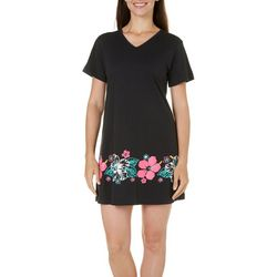 Coral Bay Womens Tropical Flower Nightgown