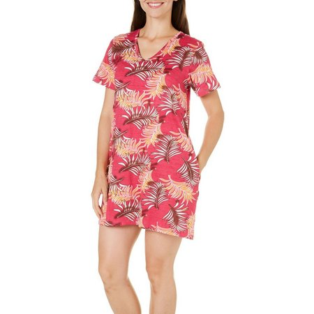 Coral Bay Womens Palm V-Neck Nightgown