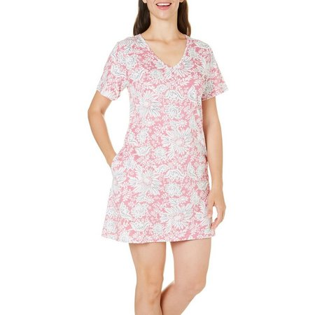 Coral Bay Womens Floral Pocket Leisure Dress