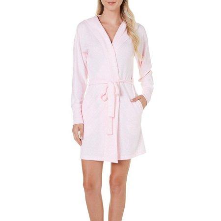 Jaclyn Intimates Womens Whisper Knit Robe