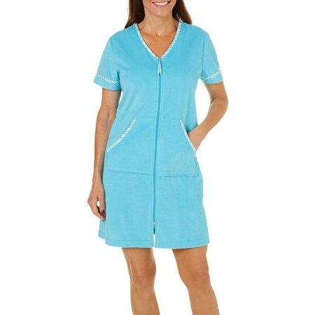 Coral Bay Short Sleeve Zip Up Robe